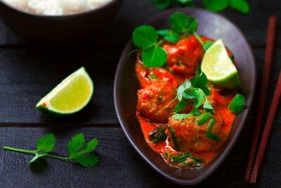 Naklejka Thai hot   curry with fish