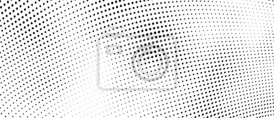 Naklejka The halftone texture is monochrome. Vector chaotic background