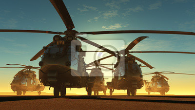 Naklejka The helicopter