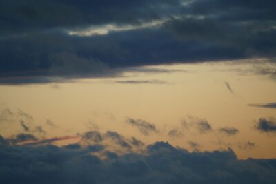 The sky at sunset. sky with clouds