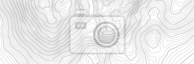 Naklejka The stylized height of the topographic contour in lines and contours. The concept of a conditional geography scheme and the terrain path. Vector illustration.