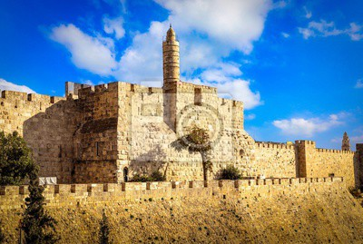 Naklejka The Tower of David, also known as the Jerusalem Citadel,