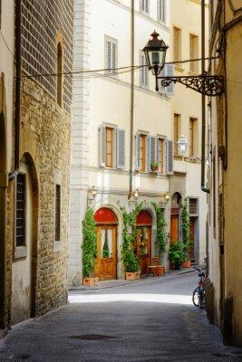 Naklejka The Via Lambertesca street at historic center of Florence, Italy