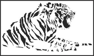 Naklejka tiger_sitting