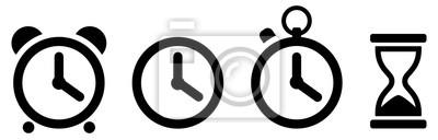 Naklejka Time icons set. Clock icon. Vector