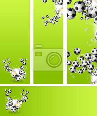 Tła lub karty z piłki nożnej