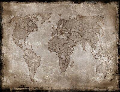 Naklejka tła-stare mapy