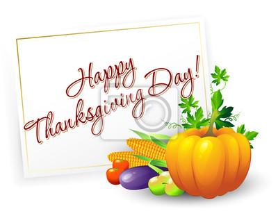 Naklejka Tło Dziękczynienia. Ilustracja wektorowa