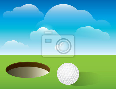 Tło Golf Putting Green