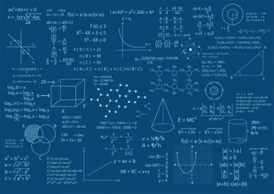 Naklejka tło matematyczne formuły