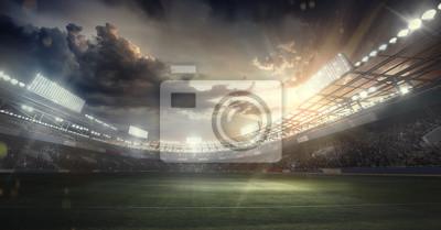 Naklejka Tło sportowe. Stadion piłkarski. Sport Arena