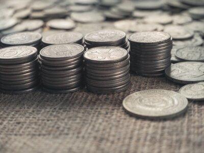 Tło stare monety. Rzadkie monety Rosji Związku Radzieckiego.