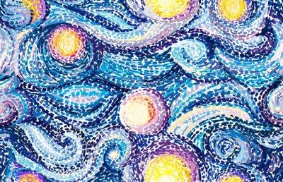Naklejka Tło Van Gogha
