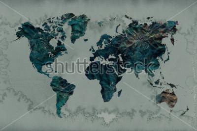 Naklejka tło wzór mapy świata