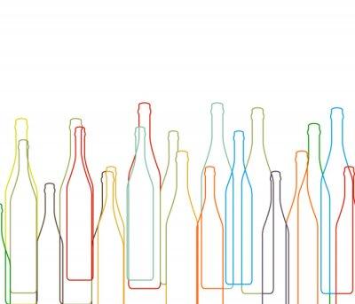 Naklejka Tło z butelki ustawione