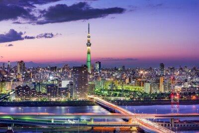 Naklejka Tokio, Japonia Skyline