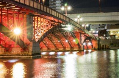 Naklejka Tokyo Noc mostu