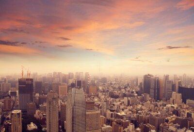 Naklejka Tokyo skyline