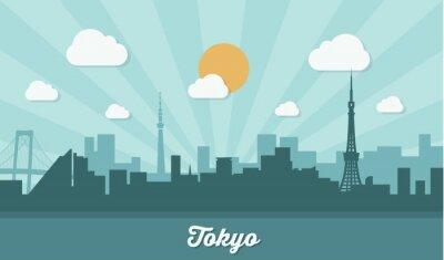 Naklejka Tokyo skyline - płaska