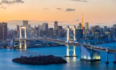 Naklejka Tokyo Tower Rainbow Bridge