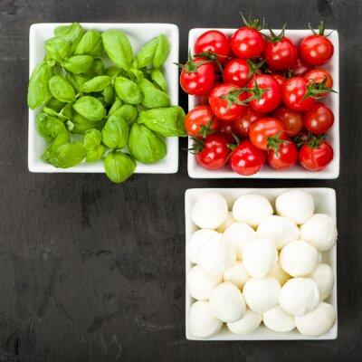 Naklejka Tomate mozzarella Basilikum