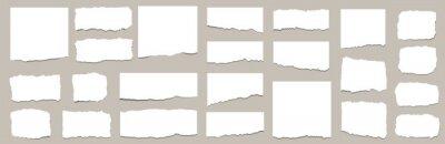 Naklejka Torn sheets of paper. Torn paper strips set. Vector illustration