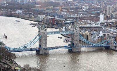 Naklejka Tower Bridge na Tamizie w Londynie