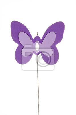 Toy Butterfly na białym tle / Christmas dekoracji