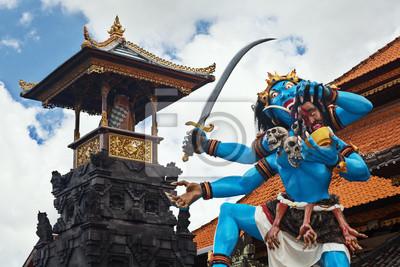 Traditional Balinese demon ogoh-ogoh for Nyepi parade
