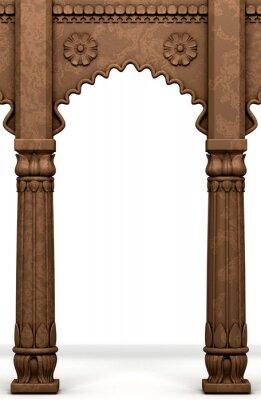 Naklejka Tradycyjne indyjskie Kolumna Arc