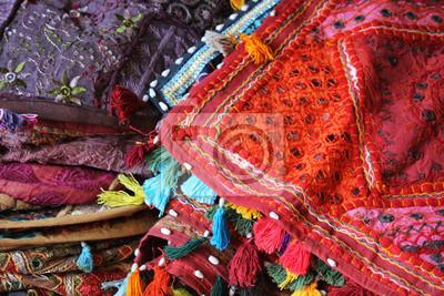 Naklejka Tradycyjne Indyjskie Poduszki