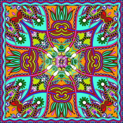Tradycyjne ozdobne Floral Paisley Bandanna