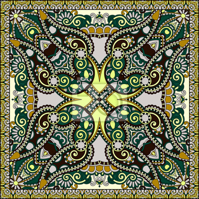 Tradycyjne ozdobne Floral Paisley barwna chustka.