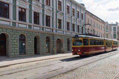 Naklejka Tramwaj w centrum Łodzi