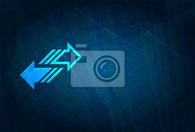 Naklejka Transfer arrow icon futuristic digital abstract blue background
