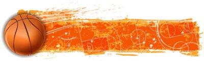 Naklejka transparent puste pole do koszykówki