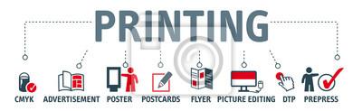 Naklejka Transparent wektor drukowania koncepcji