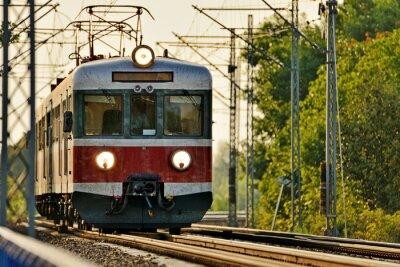 Naklejka transport kolejowy