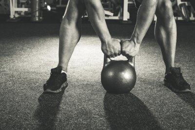 Naklejka Trening CrossFit Kettlebell