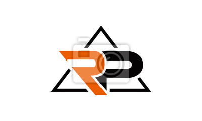 triangle RP letter logo