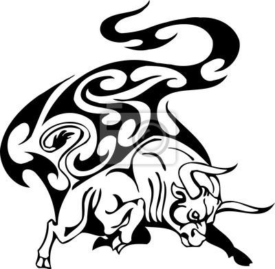 Tribal Bull - ilustracji wektorowych, winylu gotowe.
