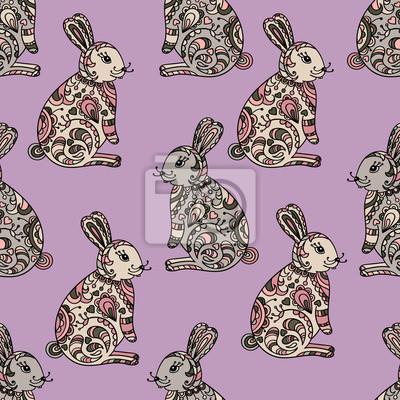 Tribal zaprojektowana króliczek.