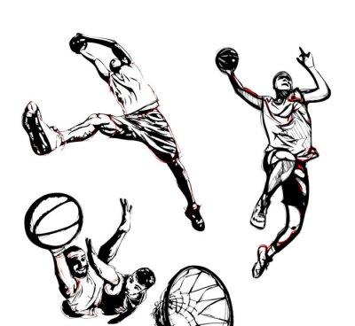 Naklejka trio koszykówki