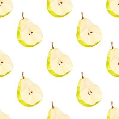 Naklejka Trójkąt ilustracji wielokątne gruszki wektorowych. Juicy Fruit.