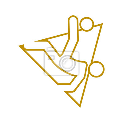 Trójkąt kształt napowietrznych kopać piłka nożna sport konturu rysunek symbol