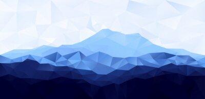 Naklejka Trójkąt low poly wielokąta geometryczne tło z Blue Mountain