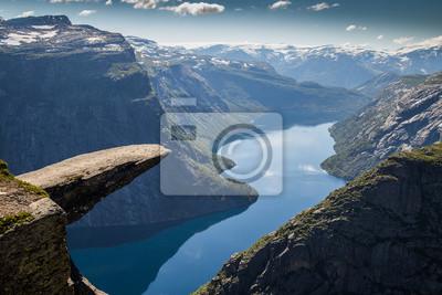 Naklejka Trolltunga Norwegia