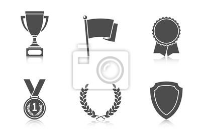 Naklejka Trophy i nagrody ikony