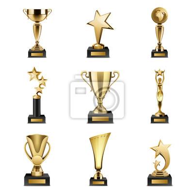 Naklejka Trophy Nagrody Realistyczne Set
