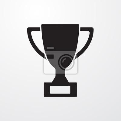 Naklejka Trophy znak ikony dla sieci web i mobile.